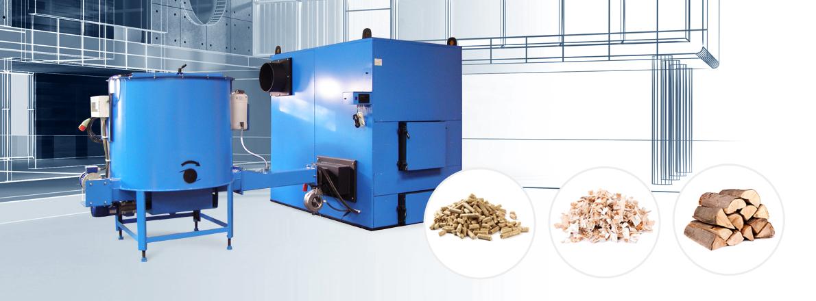 Kotły przemysłowe na biomasę